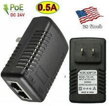 DC 24V 0.5A Wall Plug POE Injector Ethernet Adapter IP Phone/Camera Power Supply