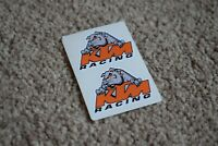 KTM Racing Bulldog Racing Motorbike Motorcycle Bike Helmet Decal Sticker 50mm