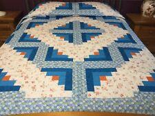 Queen size machine pieced Patchwork quilt / #J-27