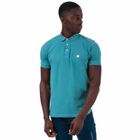 Mens Pretty Green Nightshade Carver Polo Shirt in Blue.