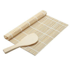 DIY Sushi Rolling Maker Mat Bamboo Roller Mats And A Rice Paddle Kitchen Tool