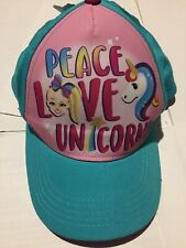 Jojo Siwa Hat Peace Love Unicorns