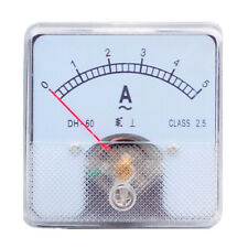 1PC Class 2.5 Analog Panel AMP Current Meter AC 0-5A Ammeter DH-60 60*60