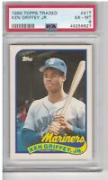 1989 TOPPS TRADED KEN GRIFFEY JR RC #41T PSA 6 EX-MT
