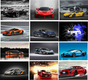 Super Sport Racing Cars Quality Poster Wall Decoration Art Print Photo Size A4