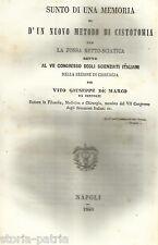MEDICINA_CHIRURGIA_CISTOTOMIA_NAPOLI_SICILIA_CENTORBI_DE MARCO_ANTICA EDIZIONE