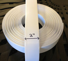"2"" Vinyl  Strap For Patio Furniture Repair  45' Roll - White"