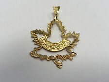 9 ct carat 375 Gold Vintage style Charm Canadian Maple