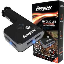 Energizer 50530 12 V 24 V En Coche Camión Van Quad 4 USB Cargador Adaptador de enchufe de múltiples