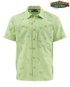 Simms Double Haul SS Shirt - Tarpon Time Key Lime - L - NEW DISCOUNTED
