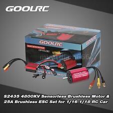 Original S2435 4800KV Motor & 25A ESC Combo Set for 1/16 1/18 RC Car E0S1