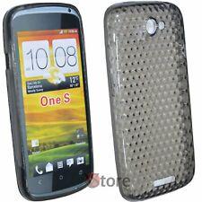 Cover Custodia Per HTC One S Silicone Gel TPU Nero Diamond Protezione Antiurto