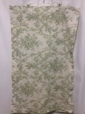 Ralph Lauren pillow sham 1 King green white floral roses 100% cotton Nice! #2