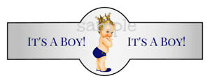 Set of 16 Traditional Custom Baby Cigar Band Label It's A Girl Boy Favor