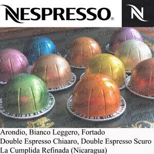 NESPRESSO VERTUO COFFEE CAPSULES  PODS FORTADO  DOUBLE ESPRESSO CHIARO & SCURO