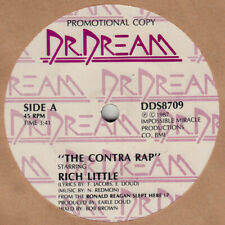 """Rich Little novelty 45 rpm """"The Contra Rap"""" on Dr. Dream Records"""