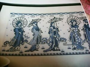 CROSS STITCH CHART ORIENTAL JAPANESE LADIES SAMPLER CHART ONLY