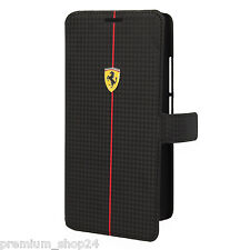 Ferrari formula one book case para móvil para HTC One Max t6 carbon en negro