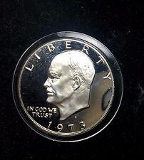 1973-S PROOF EISENHOWER IKE SILVER DOLLAR