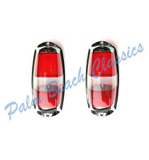Mercedes Benz 190SL W121 New Tail Light Lens Set Red Clear Red