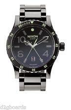 New 2015 Nixon Watch The Diplomat SS Polished Gunmetal Lum Womens Mens NX38