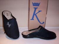 King ciabatte pantofole chiuse uomo invernali da casa nere traspiranti antishock