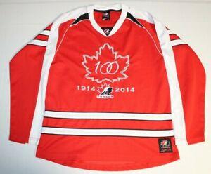 100th Anniversary 1914-2014 IIHF Canada Hockey Sewn Jersey Youth Large Sogo Red