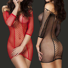 Women's Sexy Lingerie Nightwear Underwear Babydoll Sleepwears Fishnet Slim Dress