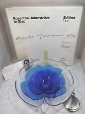 Vintage Boxed Rosenthal Ltd. Ed. Glass Plate Dish by Gunter Ferdinand Ris 1977