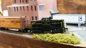 WM Western Maryland Fireball GE44 Tonner Rokuhan Brass Z scale anaolog with LEDs