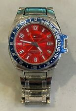 TOMMY HILFIGER Red Dial Stainless Steel Men's Watch - Used