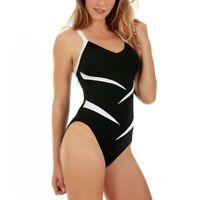 InstantFigure Compression Two-Tone One-Piece Swimsuit $119 Size 10 # U8 370 NEW