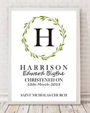 Personalised Christening Print New Baby Gift Boy / Girl Naming Day Present PO157