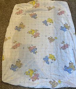 Vintage 80's Dundee Mills Fitted Standard crib sheet Bears Birds Bunnies
