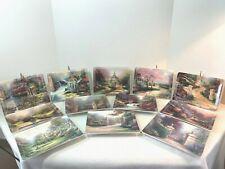 "Thomas Kinkade Complete Set ""Nature's Retreat"" Plates by Bradford Exchange"