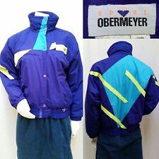 Vintage 80's Obermeyer Color Block Ski Snowboard Jacket -  Womens Size M