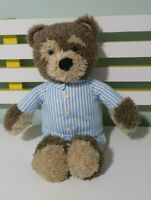 LITTLE CHARLEY BEAR TEDDY BEAR PLUSH TOY! 40CM IN BLUE STRIPEY PYJAMAS