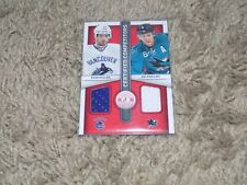 13/14 Panini Totally Certified Ryan Kesler Joe Pavelski Game Used Jersey Card
