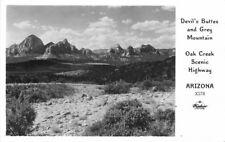 Arizona 1940s Frasher Devil's Buttes Gray Mountain Oak Creek RPPC POSTCARD 1536
