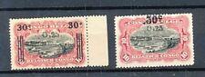 TIMBRE STAMP ZEGEL CONGO BELGE ANNEE 1923 SURCHARGE 104-105  XX