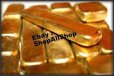 Scrap gold bar 1000 grams for Gold Recovery melted different computer pins 1KILO