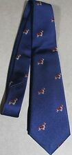 "Boys 100% Silk Crew cuts On Blue  Neck Ties 42 3/8 "" ! DOG'S buy 1 get 1 free"