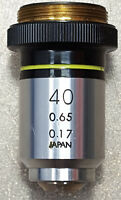 Olympus Microscope Objective Lens 40X, 0.65/0.17. 493834.