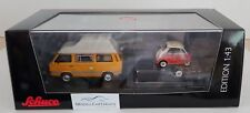Schuco 1/43: 03303 VW T3 Joker Camping Van with Car Trailer and BMW Isetta