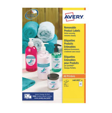 Avery Removable Labels 37mm dia 24 P/Sht Wht (Pack of 600) L4851REV-25 +24h Del