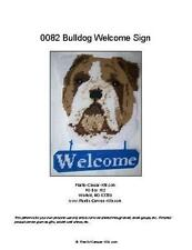Old English Bulldog Dog Welcome Sign- Plastic Canvas Pattern or Kit