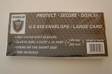 *Shield 250+ Sleeves 120 mm x 260 mm For U.S. # 10 Envelopes / Large Cards.