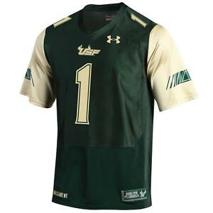 USF South Florida Bulls Men's Under Amour Official Sideline Football Jersey, NWT