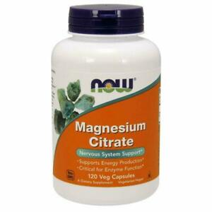 Now Foods Magnesium Citrate 400mg 120 Capsules