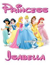 New Disney Princess Personalized T Shirt Party Favor Birthday Present Gift